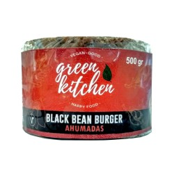 Hamburguesa vegana Black Bean Ahumada x 4u - Green Kitchen