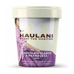 Helado artesanal de chocolate blanco y frambuesa 500 cc - Haulani