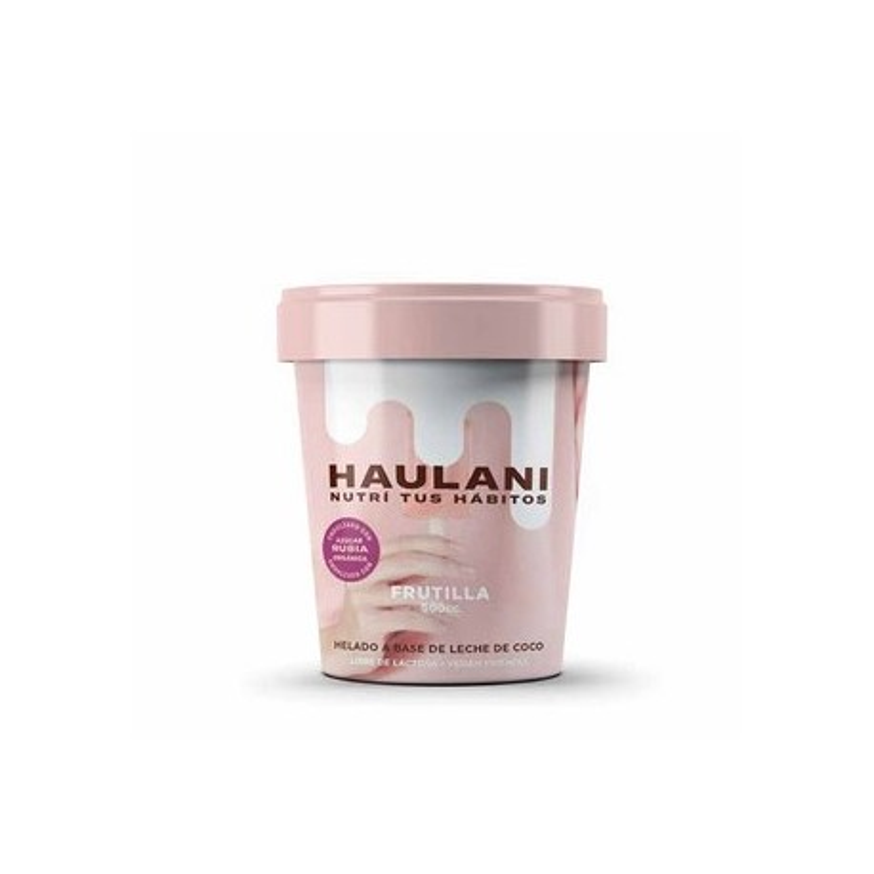 Helado artesanal de frutilla 500 cc - Haulani