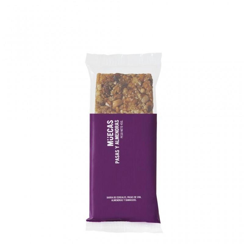 Barrita de cereal de damasco, pasas y almendras - Mueca-
